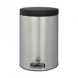 سطل زباله پدالدار 14 لیتری استیل مشکی در فلزی