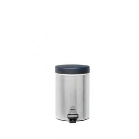 سطل زباله پدالدار 3 لیتری سایلنت استیل مشکی